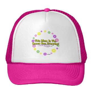 This Mom Is The Queen Bee Everyday Type FlowerRing Trucker Hat