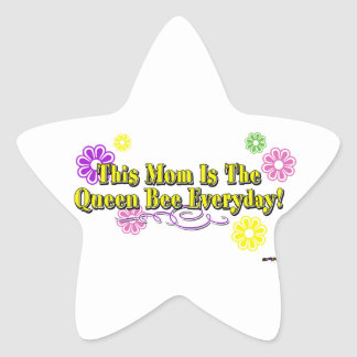 This Mom Is The Queen Bee Everyday Type Star Sticker