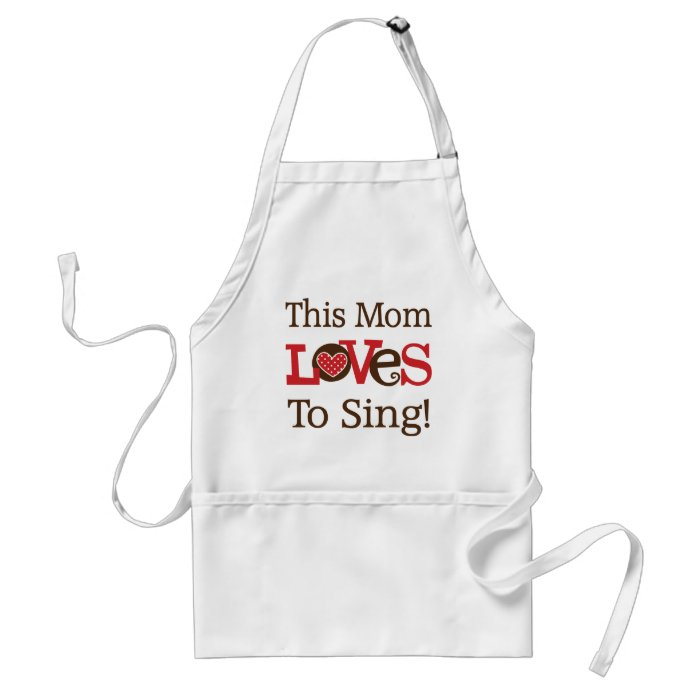 This Mom Loves To Sing Adult Apron