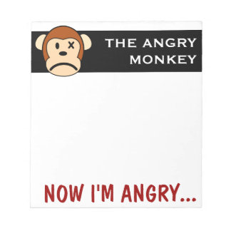 This monkey is angry enough for both of us notepad