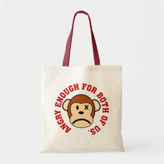 This monkey is angry enough for both of us tote bag