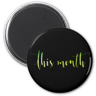 This Month Greenly Black Week Planner Home Office Magnet