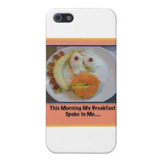 This Morning My Breakfast Spoke To Me.... Case For iPhone 5