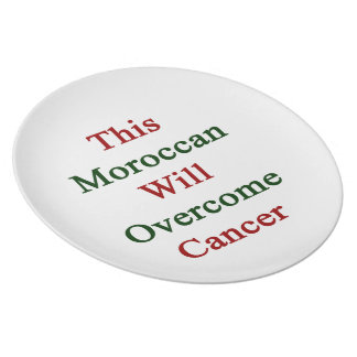 This Moroccan Will Overcome Cancer Dinner Plate