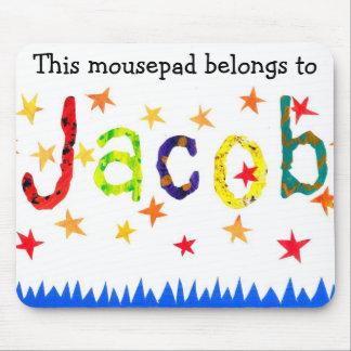 'This Mousepad Belongs to Jacob' mousepad