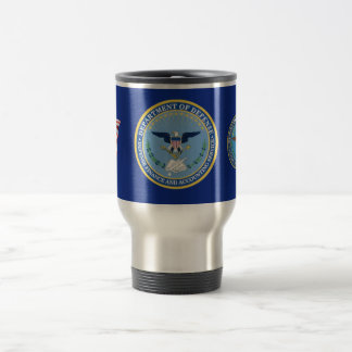 This mug is decorated with the Defense Finance Acc