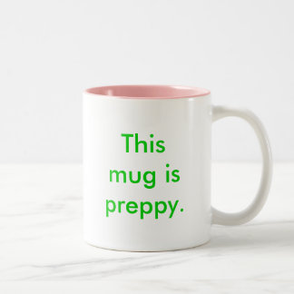 This mug is preppy. coffee cup