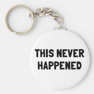 This Never Happened Basic Round Button Keychain