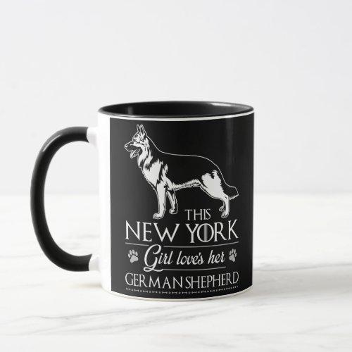 This New York Girl Loves Her German Shepherd Mug