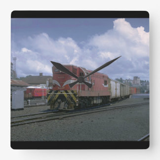 This New Zealand, EMD export_Trains of the World Square Wall Clock