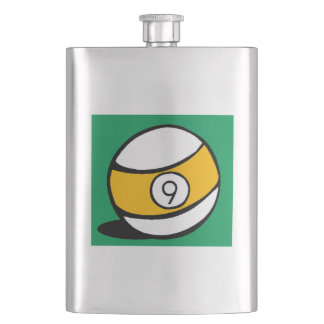 This Nine Ball design is a great gift idea for bil Flask
