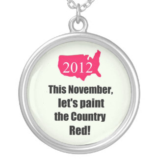 This November, let's paint the country red! 2012 Round Pendant Necklace