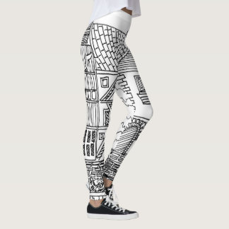 This Old House Outline Leggings
