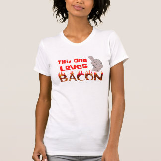this one loves bacon unisex funny t-shirt design