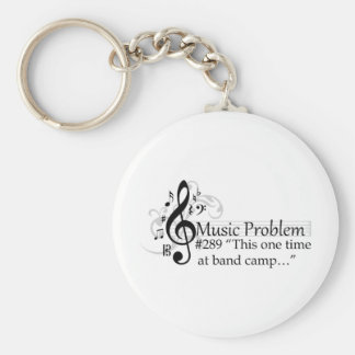 """This one time at band camp…"" Basic Round Button Keychain"