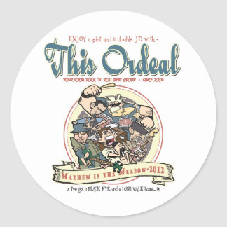 This Ordeal MITM Classic Round Sticker
