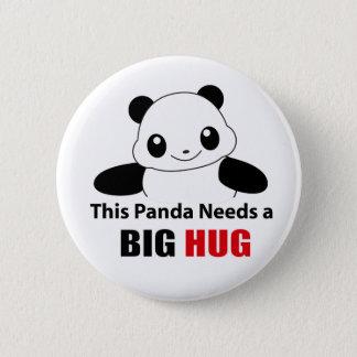 This panda need a big hug pinback button