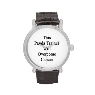 This Panda Trainer Will Overcome Cancer Wristwatch