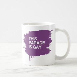 This parade is gay classic white coffee mug