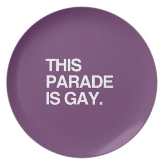 This parade is gay plates