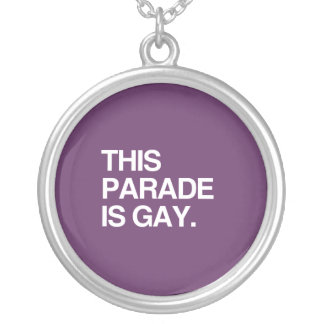 This parade is gay round pendant necklace