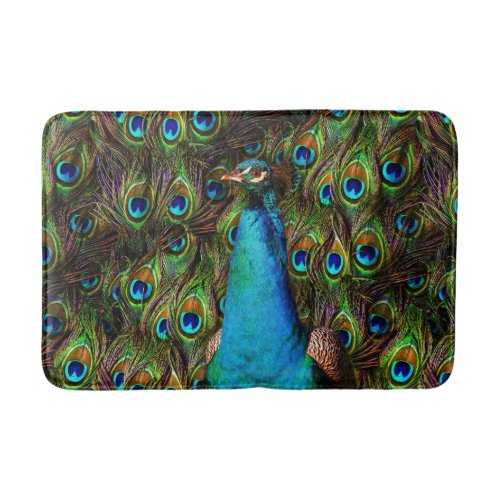 This peacock is watching you! Bathmat