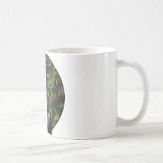 This peacock is watching you! coffee mug
