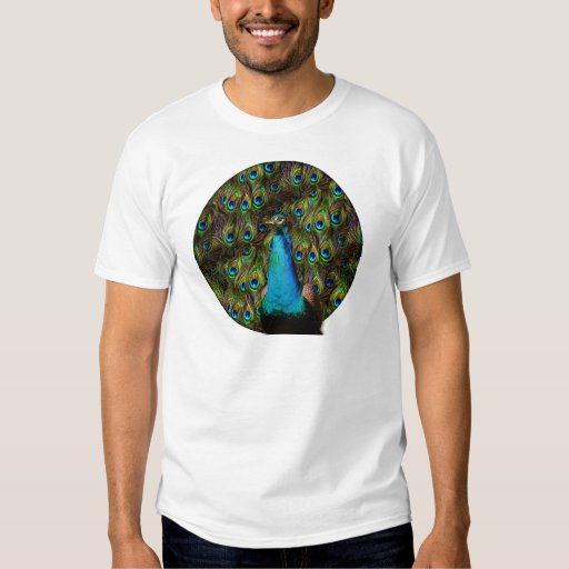 This peacock is watching you! tee shirt