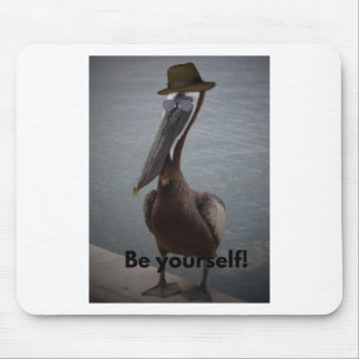 This pelican is proud to be original mouse pad