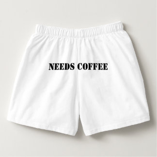 THIS PERSON NEEDS COFFEE Boxer Shorts mens/womens