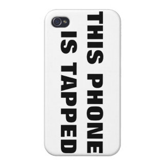 THIS PHONE IS TAPPED iPhone 4S iPhone 4 Case