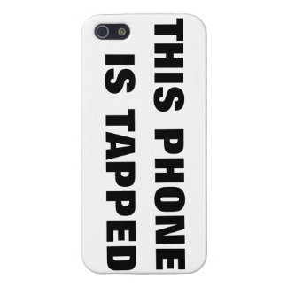 THIS PHONE IS TAPPED COVER FOR iPhone 5