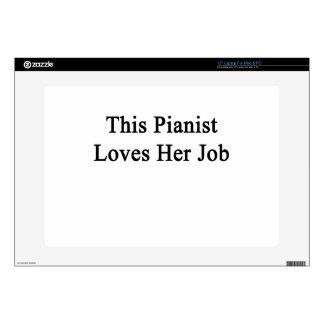 "This Pianist Loves Her Job Skin For 15"" Laptop"