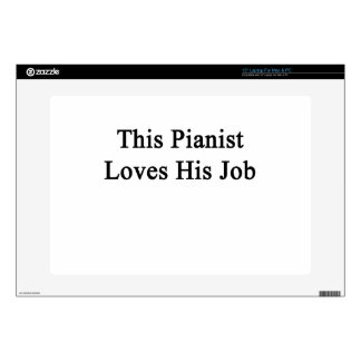 This Pianist Loves His Job Laptop Decals