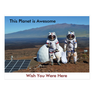 This Planet Is Awesome, Wish You Were Here Postcard