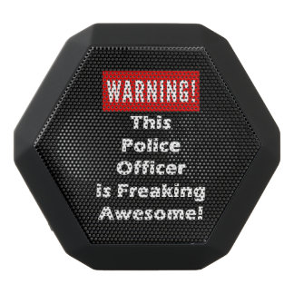 This Police Officer is Freaking Awesome! Black Bluetooth Speaker