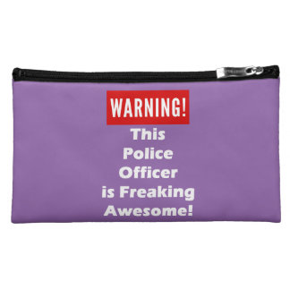 This Police Officer is Freaking Awesome! Cosmetic Bag