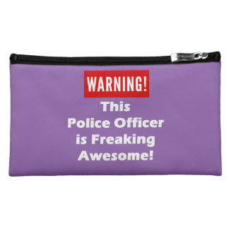 This Police Officer is Freaking Awesome! Makeup Bag