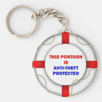 This Pontoon is Anti Theft Protected Keychain