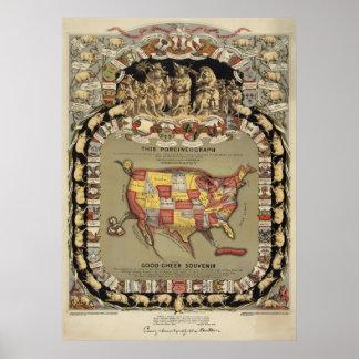 """This Porcineograph"" (Forbes) 1876 BigMapBlog.com Poster"