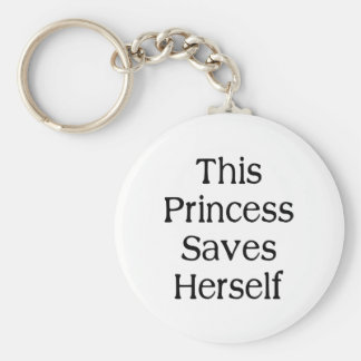 This Princess Saves Keychain