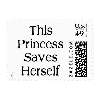 This Princess Saves Postage