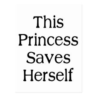 This Princess Saves Postcard