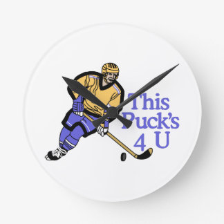 This Pucks For You Round Clock