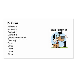 This Puppy 1st Birthday T shirts and Gifts Double-Sided Standard Business Cards (Pack Of 100)