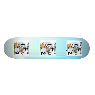 This Puppy 2nd Birthday T shirts and Gifts Skate Board Deck