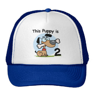 This Puppy 2nd Birthday T shirts and Gifts Trucker Hat