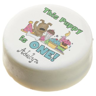 This Puppy is One 1st Birthday Dipped Oreos Chocolate Covered Oreo