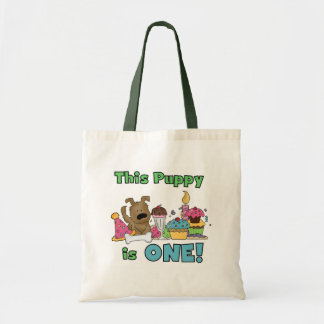 This Puppy is One Tshirts and Gifts Tote Bag