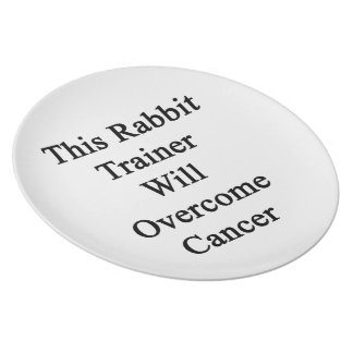 This Rabbit Trainer Will Overcome Cancer Plate